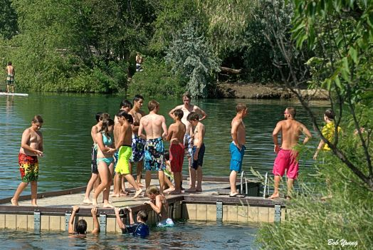 Great to see the teens at Quinn's Pond enjoying the cool water on a hot summer day.